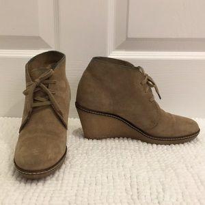 Jcrew Tan Suede Booties Size 7
